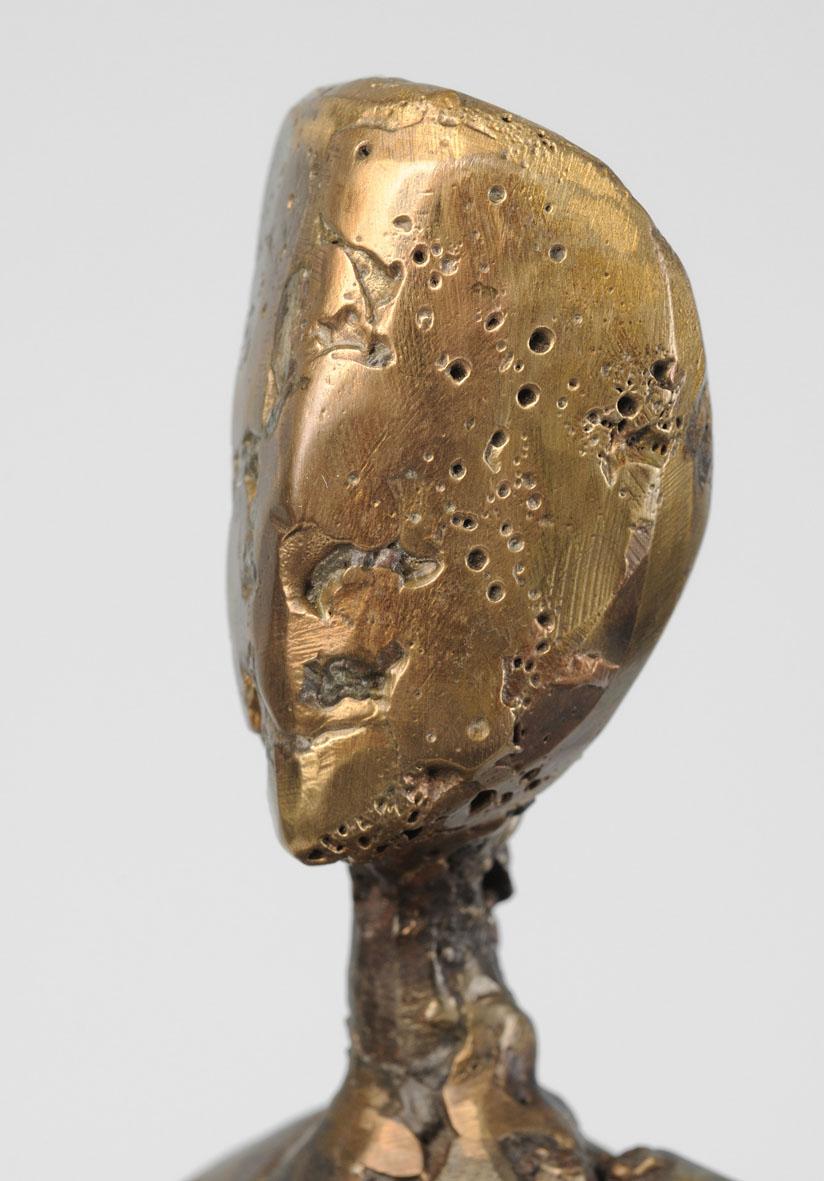 visage en bronze