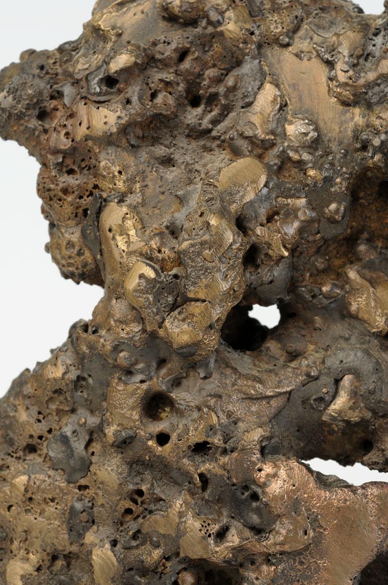 détail de la fusion du bronze